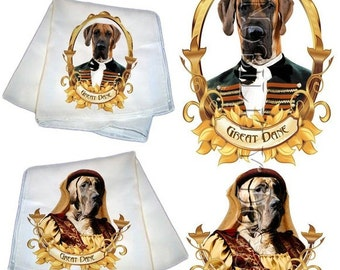 SALE - 40% OFF Great Dane Silk Scarf Gifts For Dog Lover by Nobility Dogs