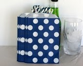Navy blue paper bags for wedding candy buffets, popcorn, cookie, birthday treat, bitty bags