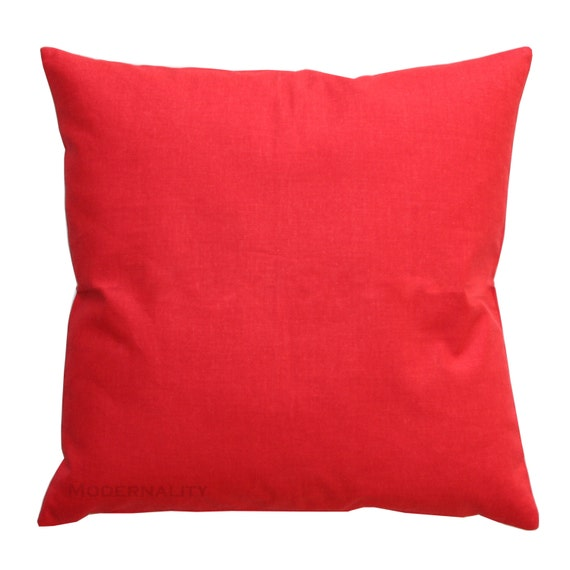 Throw Pillows In Clearance : CLEARANCE Solid Toss Pillows Bright Red Solid by Modernality2