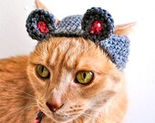 Mouse Costume for Dogs - Hand Knit Dog Hat - Dog Halloween Costume - Custom Sizing