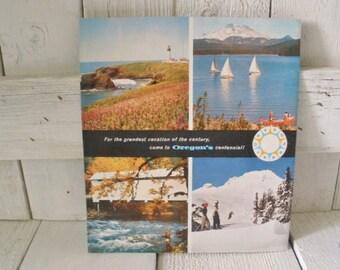 Vintage Oregon travel brochure vacation souvenir Centennial 1959