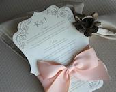 Wedding Menu Cards, Classic Style, CHOOSE COLORS, Wedding Invitation, Menu Card Table Setting