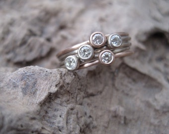 Tiny Stars ~ Diamond Ring