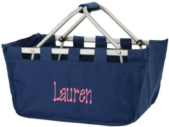 Personalized Navy Market Tote ~ Monogrammed Navy Market Tote ~ Embroidery Included