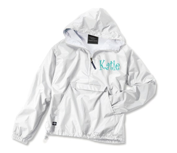 Monogrammed Rain Jacket ~ Monogram Pullover ~ Monogrammed Jacket ~ Monogrammed Coat~ Personalized Jacket ~ Many Colors
