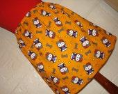 Orange Halloween Hello Kitty Mini Skirt - High Waisted Ladies Mini Skirt - Vampire Dracula Hello Kitty with Bats - Handmade & Ready to Ship