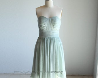 2016 Dusty Shale Bridesmaid dress, Sweetheart Strapless dress, Wedding dress, Fairy, Dreamy, Formal dress, Prom dress (B013A)/Renzrags