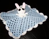 Bunny LOVEY blanket 11 inches x 11 inches