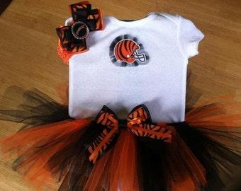 Cincinnati Bengals inspired tutu outfit