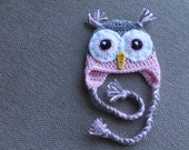 Newborn Baby Girl Owl Hat