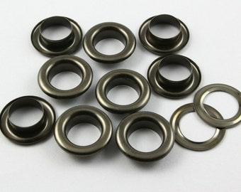 100Pcs 17mm Gunmetal Round Grommet Eyelet (GRG17)