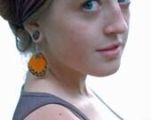Real butterfly wing earrings - Delias Oraia - Real Butterfly Wing Jewelry