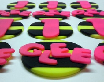 Bee Stripe, Personalized Edible Fondant Cupcake or Cookie Toppers