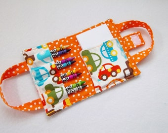 Ready Set Go Car Print Crayon Wallet.Free USPS First Class Shipping/ Ready to ship