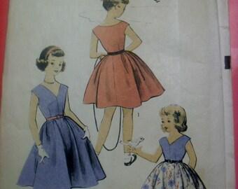 "Vintage ""Advance"" Girls Dress Pattern"
