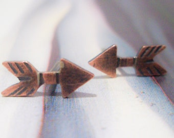 Copper Studs:  Straight Arrow