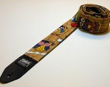 handmade crazy hooters guitar strap. Black Bedroom Furniture Sets. Home Design Ideas