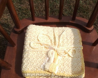 Soft Yellow Baby Blanket 2 Shades of Yellow