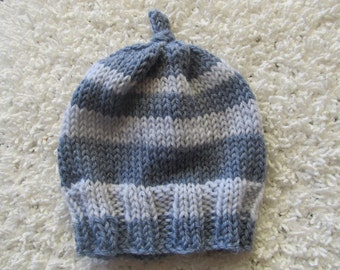 Handknit wool hat for baby