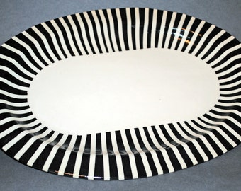 Handmade Ceramic Serving Platter, Oval Serving Dish