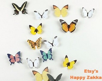 Butterfly Journal & Wall Deco - Paper Die Cut Card - 1 Sheet