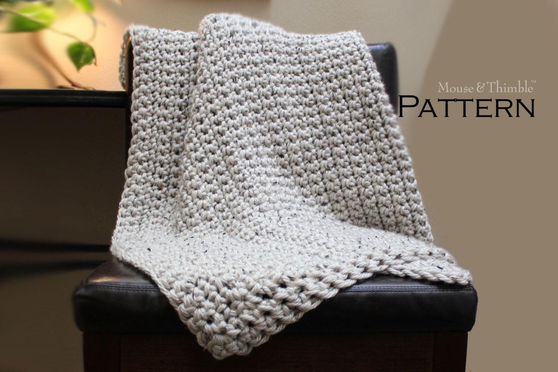 Aspen Tweed Chunky Lap Size Afghan Crochet PATTERN 38