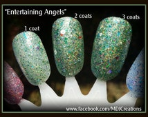 Entertaining Angels ~Holographic Spectraflair Jelly Glitter 5 Free Nail Polish By MDJ Creations