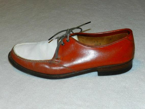 vintage mens leather jarman dress shoes by ferrytaletreasures