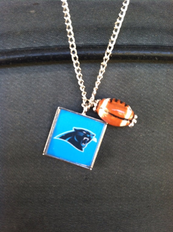 carolina panther jewelry carolina panthers necklace by rdscrpion on etsy 8921