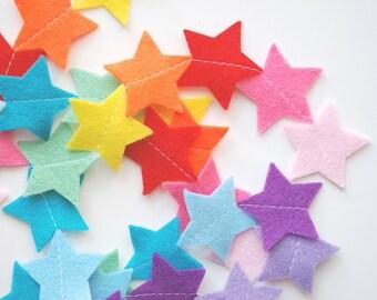 Felt Garland - Rainbow Stars