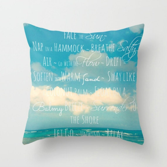 Throw Pillows Quilted : Throw Pillows with Words Pillows with Sayings Blue Throw