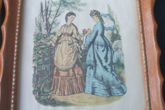 Late 1800 S Victorian Fashion Prints Art Deco By
