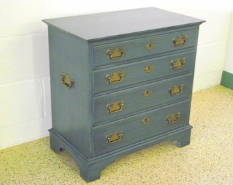 Chippendale Style 4 Drawer Silver Chest Nightstand End table by Pennsylvania House - 2 available