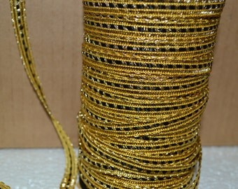 3/8 inch Gold&Black Braid