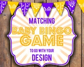 Baby Bingo Game to match your design, digital, printable, party package