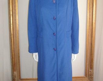 CLEARANCE Vintage 1970/80's Wellington Fashions Kashmiracle Blue Coat - Size 18