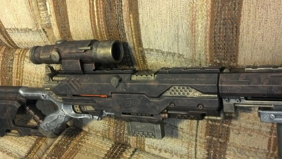 Steampunk Longstrike Nerf Sniper Rifle