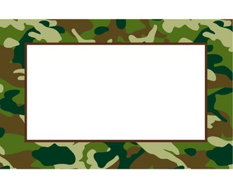 "50 ""Camo"" Camouflage Florist Blank Enclosure Cards Small Tags Crafts (Free Shipping!)"