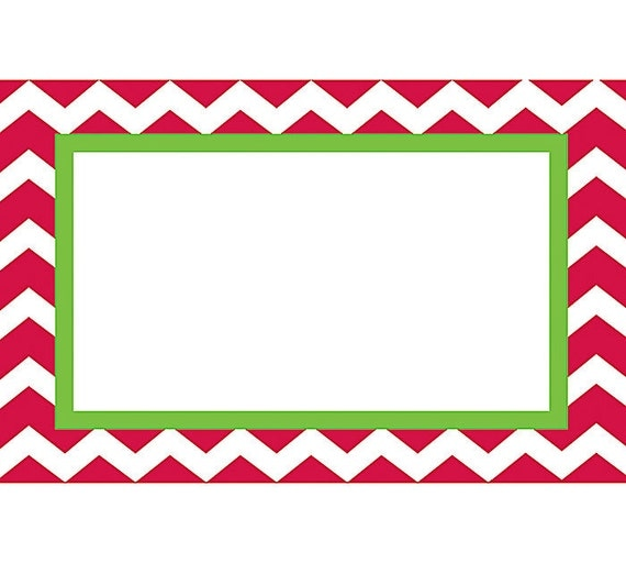 "50 ""Christmas Chevron"" Print Florist Blank Enclosure Cards Small Tags ..."