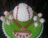 Batter Up Baseball Cake pops