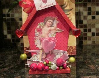 BE MY VALENTINE Wood  Birdhouse