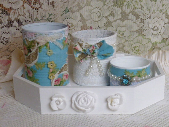 Custom Order For Sue, Please Do Not Buy, Shabby Chic Desk Set