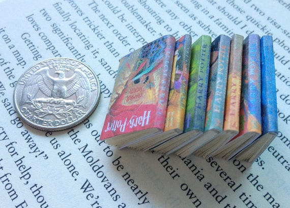 Miniature Book Collection Set Of Harry Potter By Carielewyn