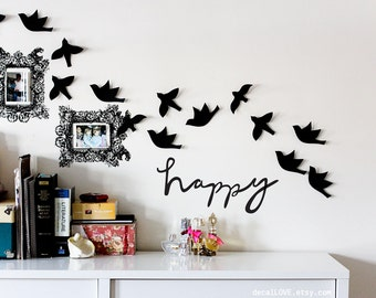 happy wall decal