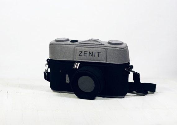 Vintage Zenit Camera Felt Bag