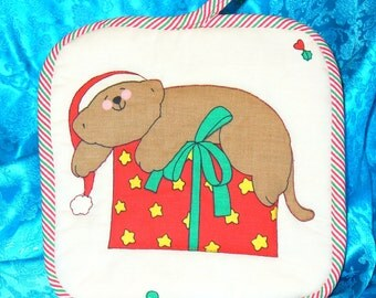Quilted Christmas Potholder