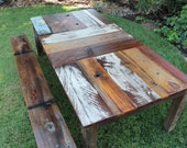 Reclaimed Wood Kitchen Table - BindleStickFurniture