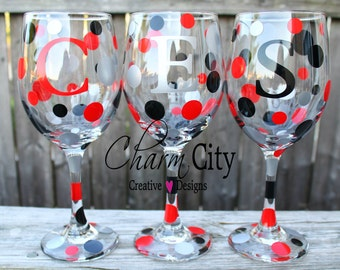 Personalized Wine Glass 20oz Party Sports Gifts