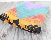 Vintage Retro Neon Ralph Lauren Aztec Tribal Southwest Towel