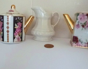 Sale Price for Christmas-Miniature Decorative Tea Pots